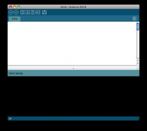 A blank Arduino IDE tab